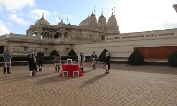 BAPS Shri Swaminarayan Temple, Neasden donated meals to Brent Thrive as part of Diwali