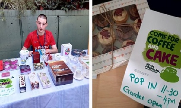 A successful fundraiser for Macmillan Coffee morning
