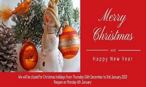 Christmas Closure Notice